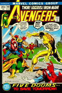 Avengers #101 (July 1972) Cover art by Rich Buckler & Frank Giacoia.