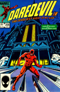 Daredevil #208 (July 1984) Cover art by David Mazzucchelli and Bob Wiacek